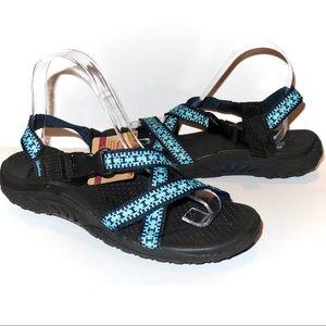 Skechers Reggaes Sandals NEW size 8 Blue